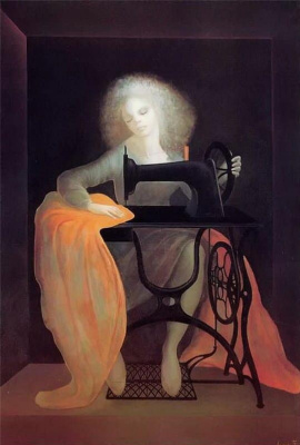 Leonor Fini. Sewing machine
