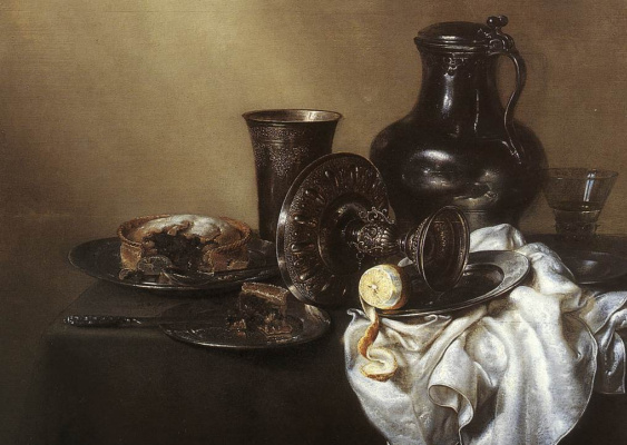 Willem Claesz Heda. White tablecloth