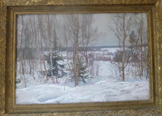 Unknown Author. Winter landscape