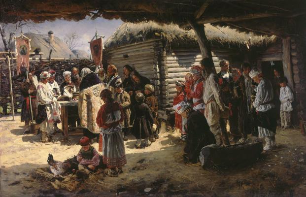 Владимир Егорович Маковский. Молебен на Пасху
