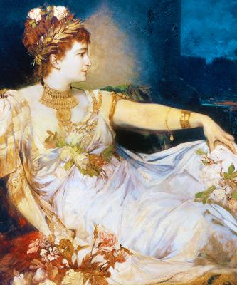Ганс Макарт. Charlotte Wolterв образе Мессалины.