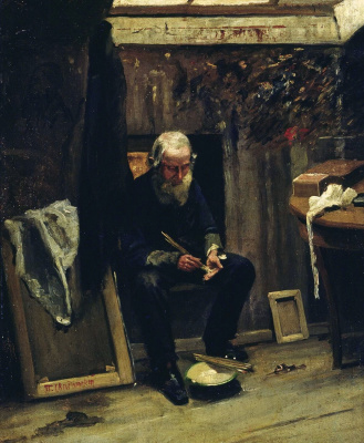 Pavel Alexandrovich Svedomsky. In the artist's studio