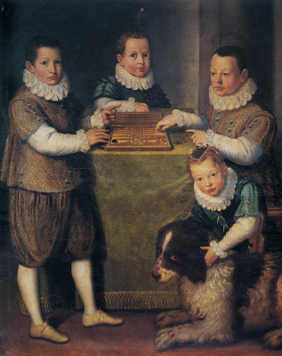 Sofonisba Anguissola. Game of dice