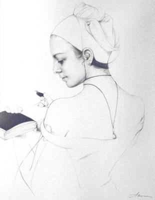 Ольга Акаси. Black White Pages (letf part)