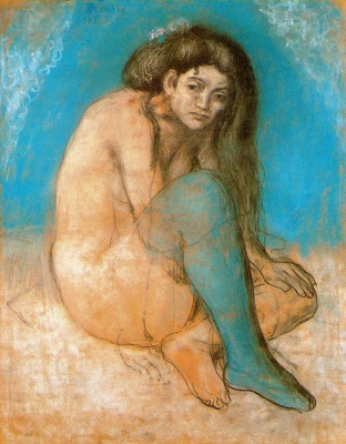 Pablo Picasso. Nude with crossed legs