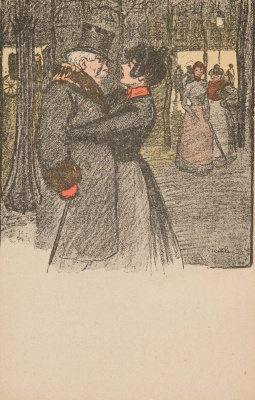 Theophile-Alexander Steinlen. Lovers in the Park