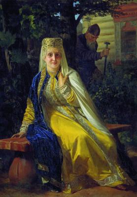 Николай Васильевич Неврев. Василиса Мелентьевна и Иван Грозный. 1880-е
