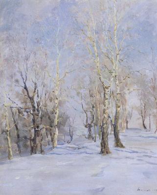 Сергей Федорович Шишко. Осиновая роща зимой