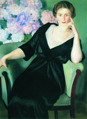 Boris Mikhailovich Kustodiev. Portrait Of Rene Ivanovna, Nothaft