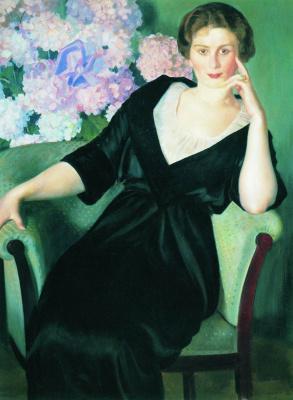 Boris Mikhailovich Kustodiev. Portrait Of Rene Ivanovna, Nothaft