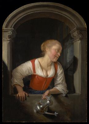 Gerrit (Gerard) Dow. The girl in the window