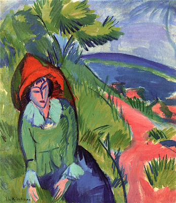 Ernst Ludwig Kirchner. Erna near the sea.(Fehmarn)