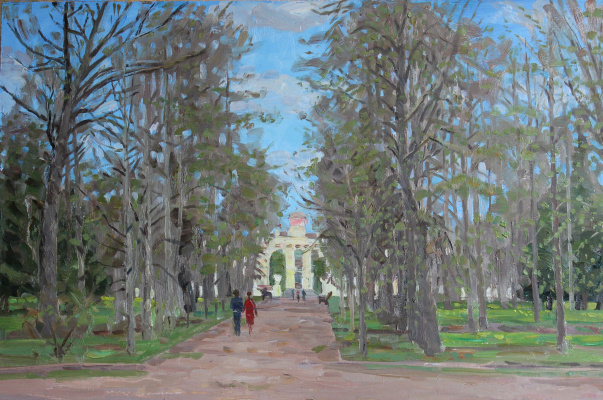 Eugene Alexandrovich Kazantsev. The first green. Alley in the park.
