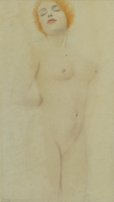 Fernand Knopf. Standing nude