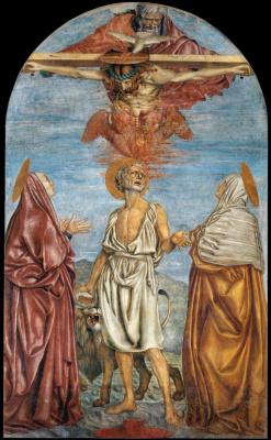 Андреа дель Кастаньо. Святая Троица Святой Иероним и двое святых