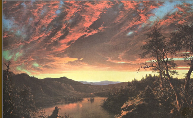 Frederick Edwin Church. Twilight in the wild