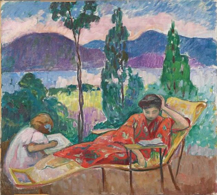 Henri Lebasque. Terrace in Cannes