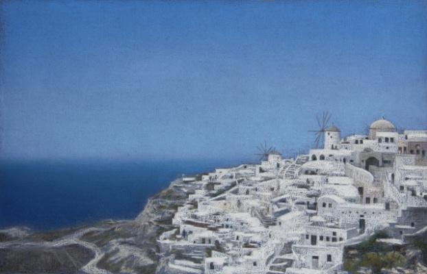"Екатерина Ивановна Киселева. Landscape from the series ""Santorini"""