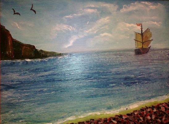 Mariya Pretser. Sea swell