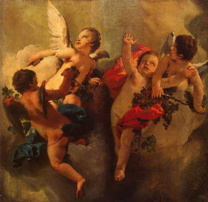 Джованни Баттиста Тьеполо. Cupids with tassels of grapes. Allegory of Autumn