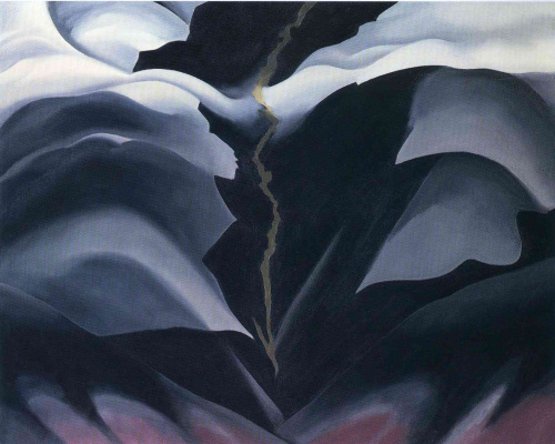 Georgia O'Keeffe. Dark space II