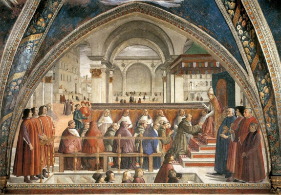 Domenico Girlandajo. Confirmation of the Franciscan rule
