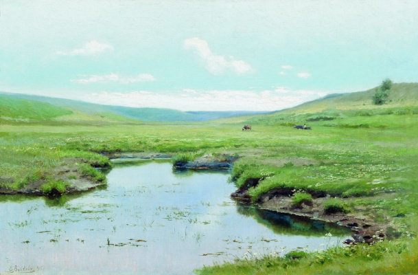 Efim Efimovich Volkov. Overgrown river