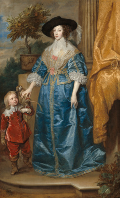 Anthony van Dyck. Queen Henrietta Maria with sir Jeffrey Hudson