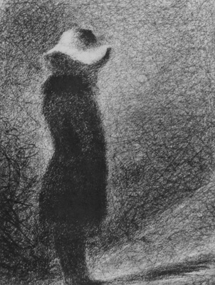 Georges Seurat. The girl in the hat