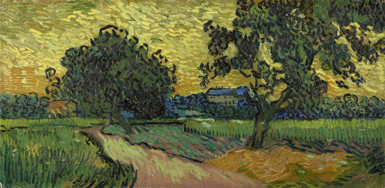 Винсент Ван Гог. Пейзаж в сумерках