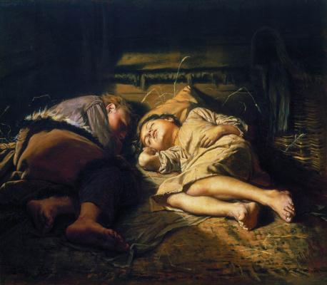 Vasily Grigorievich Perov. Sleeping children