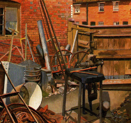 Stanley Spencer. Construction site