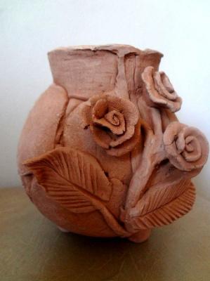 Julia Sergeevna Bochkareva. Vase with roses
