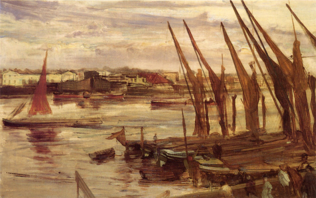 James Abbot McNeill Whistler. Battersea Reach