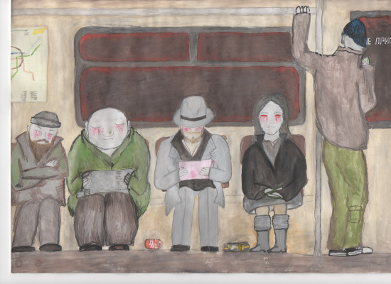 Olga Viktorovna Schepina-Rostovskaya. People in the subway