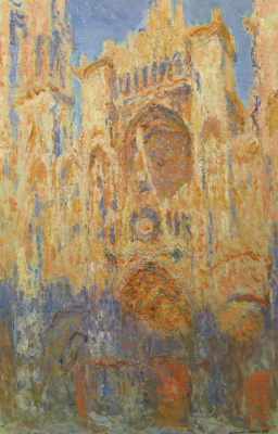 Claude Monet. Rouen Cathedral, sunset