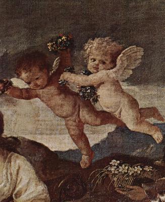 Nicola Poussin. Triumfalnoe procession of Flora. Detail