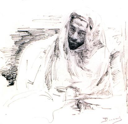 Vasily Dmitrievich Polenov. Levitan in Bedouin clothes