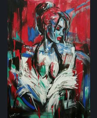 Lyuba Diker. The girl in the red
