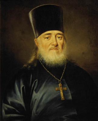 Dmitry Grigorievich Levitsky. Portrait of priest Peter Levitsky