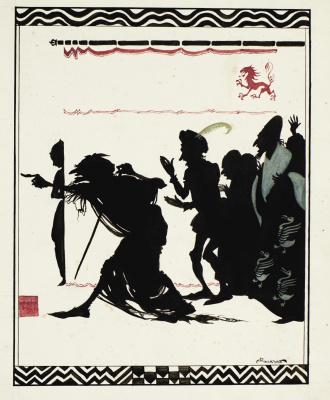 "Arthur Rackham. Illustration for the fairy tale ""Sleeping Beauty"""