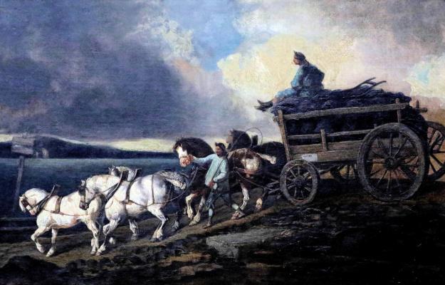 Théodore Géricault. Coal cart