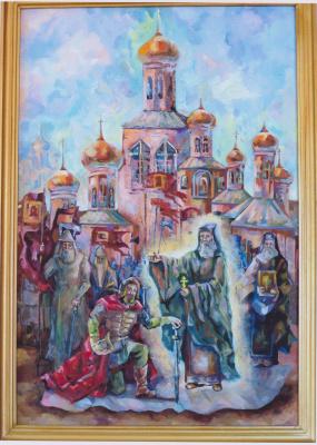 Margarita Vadimovna Pichugina. St. Sergius of Radonezh blesses Dmitry Donskoy for battle