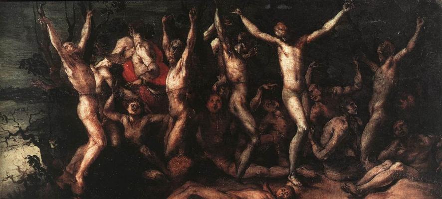 Jacopo Pontormo. Ten thousand martyrs, fragment