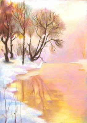Ксения Виноградова. Gold winter water