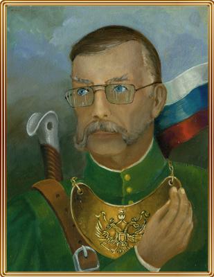 Vladimir Pavlovich Parkin. Self-portrait in the image of lit. persons.