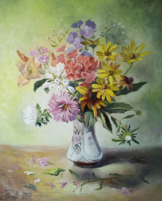 Bogdan Ermakov. My flowers in the country