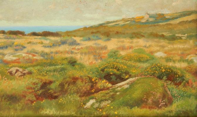 Arthur Hughes. Landscape, St. Ives