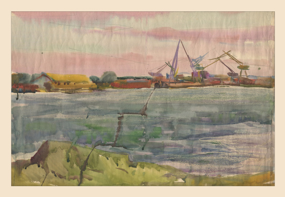 Alexandrovich Rudolf Pavlov. Series of watercolors Astrakhan, No. 1.