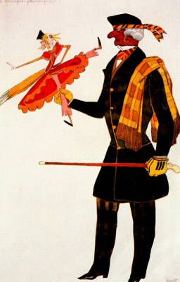 "Costume design for the ballet ""Shop of Miracles"""